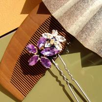 お花の髪飾り(紫)