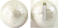 コットンパール 片穴 ホワイト