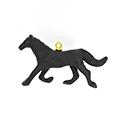 素焼きチャーム(馬・ブラック)