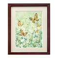 シロツメ草と蝶