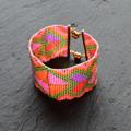 デリカビーズ(ルミナスカラー)のビーズ織りブレス
