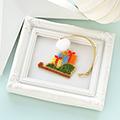 シェイプドステッチで作るクリスマスオーナメント(プレゼント)