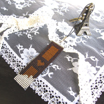 デリカビーズ織りストラップ・チョコ