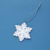 シェイプドステッチで作る雪の結晶オーナメントNo.1