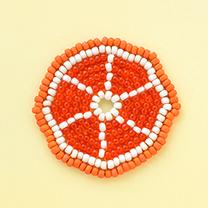 ジューシーなオレンジのコースター